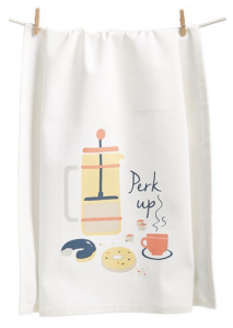 Love this cute tea towel. It would brighten up anyone's washing station!