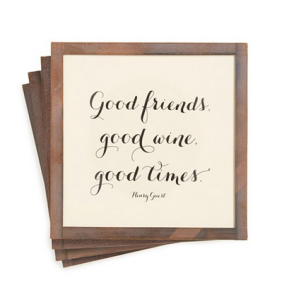For any winey friend -- set of 4 coasters!