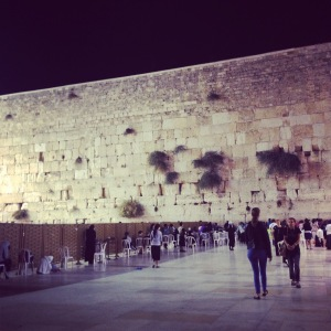 The kosel at night...one of my favorite times.